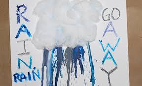 Melted Crayon Rain Craft