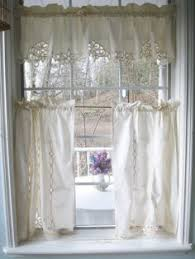 Battenburg Lace Curtains Ecru by Curtains Frilled Curtains Pair Of Sheers Semi By Mailordervintage