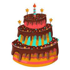 Chocolate birthday cake illustration Transparent PNG
