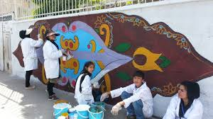 Big Ang Mural Petition by Unhcr Refugees Transform Walls Into Works Of Art