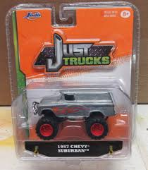 JADA TOYS JUST TRUCKS SILVER 1957 CHEVY SUBURBAN NIP 1:64 SCALE ...