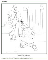 Enjoy Coloring This Picture Of Doubting Thomas Realizing Jesus Has Risen From The Dead