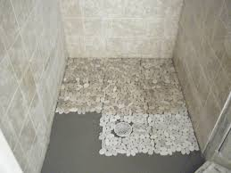 Sliced Pebble Tile Canada by Shower Floor Tiles Ideas Zamp Co