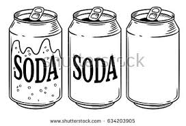 Vector illustration soda can isolated on white background Hand drawn style sketch For restaurant