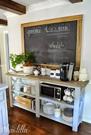 20 Handy Coffee Bar Ideas For Your Home Kitchen StorageKitchen Set UpCoffee Station KitchenKitchen DecorMicrowave