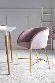 salesfever polsterstuhl sjard in esszimmer stuhl in samt optik mit armlehnen gestell messing farben sitz und rückenpolsterung