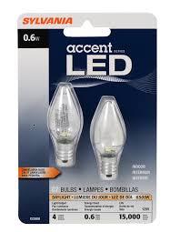 sylvania 78563 0 6 watt accent led c7 light bulb pack of 2