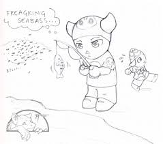 Animal Crossing Fanart Its Kinda An Inside Joke With Me And John Seabass Are The Most Common Cheap Fish In Game Theyre Really Annoying