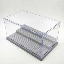 1pc 3 Steps Display Case Box Dustproof ShowCase Gray Base For LEGO Blocks Acrylic Plastic 255X155X138cm In From Toys Hobbies On