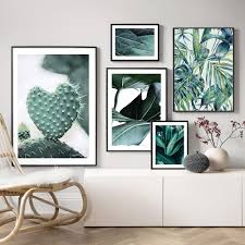 großhandel palmblätter wall kaktus leinwand malerei monstera pflanzen poster und drucke pflanzen wandbilder für wohnzimmer wohnkultur