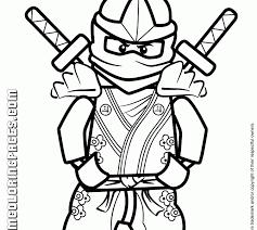 Lego Ninja Coloring Pages Free Printable Ninjago H M