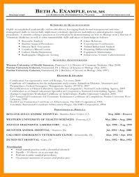 Veterinary Technician Resume Sample Examples Vet Assistant