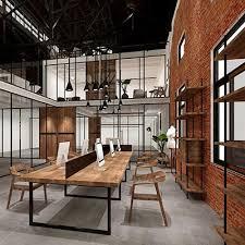 minimalist style office interior design renderings