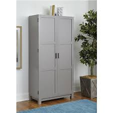 ameriwood furniture carver 64 storage cabinet gray distressed