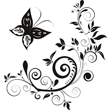 Floral Butterfly Wall Art Stickers 01 1200x