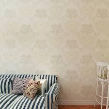 HANMERO Rustic Style Wallpaper Beige Symmetric Floral Pattern Bedroom Decoration Light Pink Color QZ0446