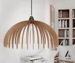 Laser Cut Lamp Shade by Wood Pendant Light Lasercut Chandelier Lamp Handmade Plywood