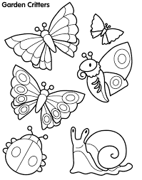 Butterfly And Other Garden Critters Coloring Pages