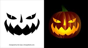 Joker Pumpkin Carving Patterns by 8 Best Images Of Printable Halloween Patterns Scary Face Pumpkin