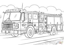 Old Fire Truck Coloring Pages With Part 158 Create And Printable On ...