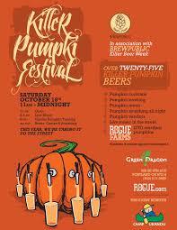 Elysian Pumpkin Ale by Killer Pumpkin Fest Returns On Saturday