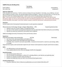 Science Resume Template Computer Templates