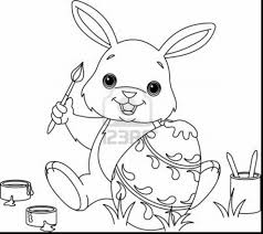 Brilliant Easter Bunny Coloring Pages Printable With Page And For