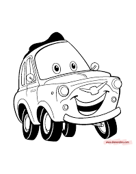 Disney Pixars Cars Coloring Pages