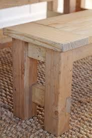 Make Outdoor End Table by Diy Farmhouse Bench Love Grows Wild