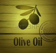 Vector olive oil Decorative olive branch For label pack Stock Vector
