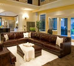 gorgeous living room ideas with leather sectional cool beige