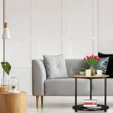 beistelltisch rund mit rollen fahrbar modernes design bambus wohnzimmer hxd 59 x 60 cm schwarz natur