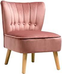 dreamade retro samt polsterstuhl relax sessel mit rücklehne ohne armlehne vintage sessel wohnzimmerstuhl für wohnzimmer esszimmer küche 110 kg