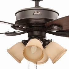 Hunter Prestige Ceiling Fan Light Kit by Hunter Belmor 52 In Indoor Bronze Ceiling Fan Light Kit 52059