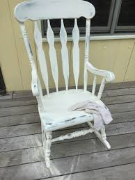 CRAFTS: How-To Refresh An Old Rocking Chair With Two Tone Chalk Paint Paraphernalia On Twitter Vintage Rocking Chair Painted In Annie Chalk Painted Rocking Chair Yard Sale Makeover Addicted 2 Diy Adult Vintage Shabby Chic With Cream Chalk Paint Baby In Tiffany Blue Using Sloan Paint Vintage Chalk Painted Rocking Chair Crystal Lake Il Patch The Miranda Kentucky Distressing Rocker Bees A Pod
