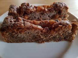 walnuss apfel kuchen mit zimt
