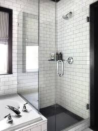 white shower tiles with black grout design ideas