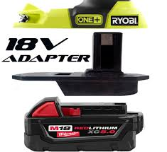 Milwaukee Tool United Kingdom Power by Milwaukee Trim Router Trimmer M18 Battery Adapter To Ryobi 18v