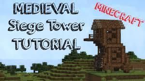 minecraft siege minecraft small siege tower tutorial