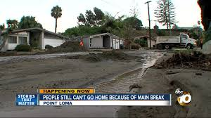 100 Point Loma Houses Homes Evacuated Due To Water Main Break