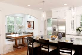 Eat In Kitchen Booth Ideas by Breakfast Nook Ideas Spaces Traditional With Built In Seating Arches