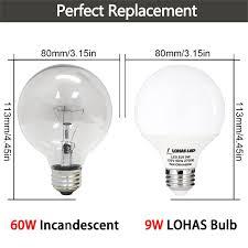 g25 globe led light bulb 9w 60w equiv warm white 2700k