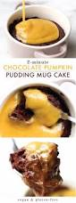 Healthy Chocolate Pumpkin Desserts by Chocolate Flourless Mug Cake With Pumpkin Spice Custard