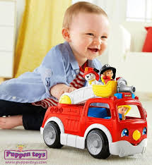 100 Fisher Price Fire Truck Ride On Lift N Lower FISHERPRICE Juguetes Puppen Toys