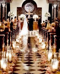 Stylish Church Wedding Ceremony Aisle Candle Decorations