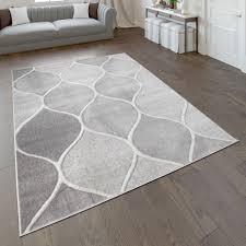 wohnzimmer teppich orient design einfarbig grau
