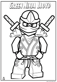 Green Ninja Lloyd Lego Coloring Pages