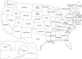 Gallery Of Us States Map Blank Template Outline Worksheet 50 2 Refrence Printable State Quiz At Fill In 5 Games