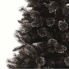 610ft Black Glitter Artificial Christmas Tree