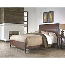 amazon com rockland platform bed with metal sleigh headboard and